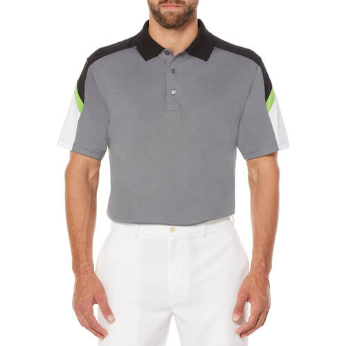 Men's Performance Short Sleeve Color Block Golf Polo Shirt