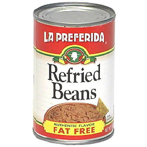 La Preferida Fat Free Refried Beans, 16 oz (Pack of 12)