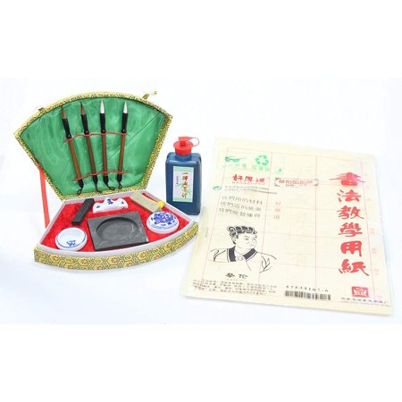 All in 1 - Nice Chinese Calligraphy Brush Pen Paper Ink Writing Painting Sumo Box Gift Set - Brush Pen Set