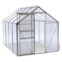 Ogrow Walk-in 6' x 8' Lawn and Garden Greenhouse with Heavy-Duty Aluminum Frame