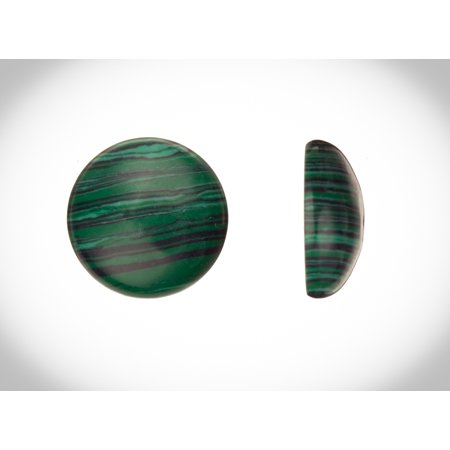 Round Dome Semi-Precious Cabochon Stones Malachite 20mm