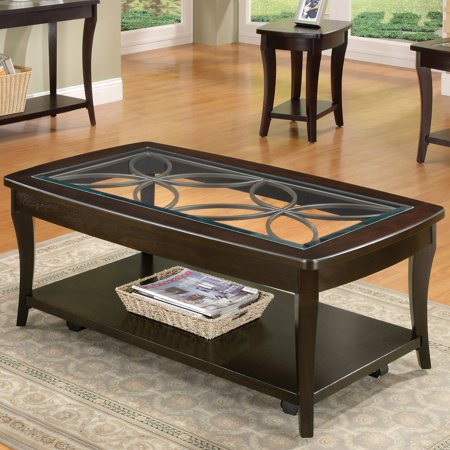 Riverside Annandale Rectangle Cocktail Table with Casters