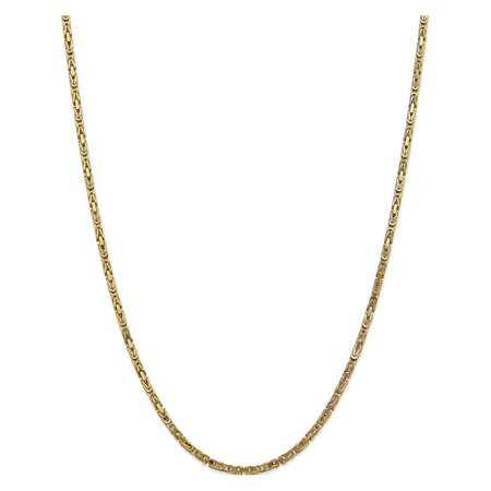 14k Yellow Gold 2.5mm Byzantine Chain - image 5 of 5