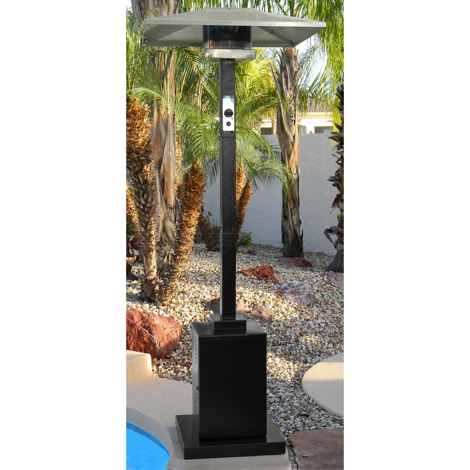AZ Patio Heater Tall Commercial Black Patio Heater by Patio Heaters