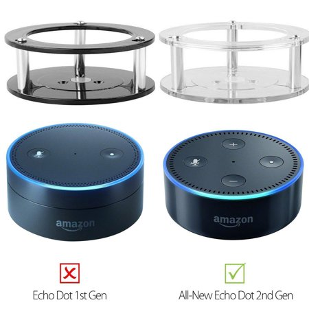Acrylic Speaker Stand,Ceiling Wall Mount Protective Stand for Amazon Alexa Echo Dot (2nd Generation) Smart Home Décor Guard Station 1PCS (Random Color:Black/Clear)