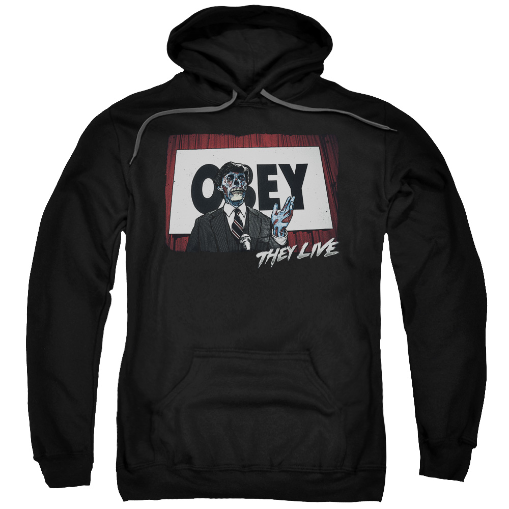 They Live Obey Mens Pullover Hoodie