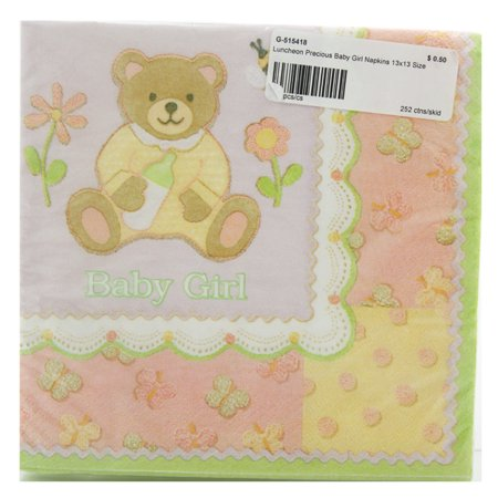 Luncheon 13x13 Baby Shower Cute Teddy Bear Soft Colors Napkins 16 Count - 6 - Baby Shower Colors