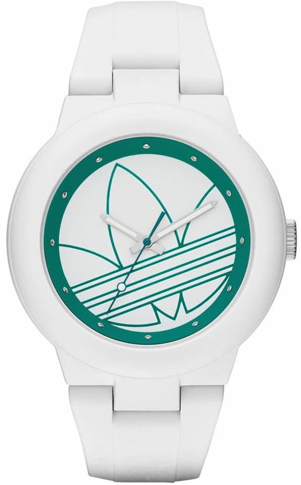 Women's Adidas Originals Aberdeen White And Green Silicone Watch ADH3108 by Adidas