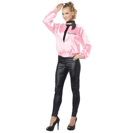 50's Pink Satin Ladies Costume Jacket - Pink Satin Ladies Costume