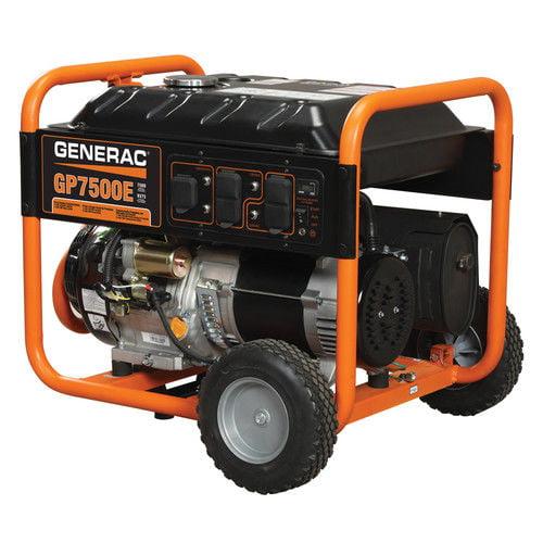 Generac 7,500-Watt Gasoline Powered Electric Start Portable Generator