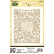 """JustRite Papercraft Cling Background Stamp 4.5""""X5.75""""-Lace"""