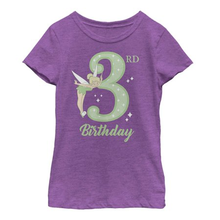 Peter Pan Girls' Tinker Bell 3rd Birthday T-Shirt (Peter Pan Tinkerbell)