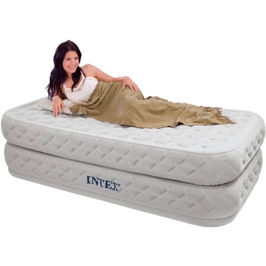"""Intex Twin 20"""" Supreme Airflow Airbed Mattress with Built-in Pump"""