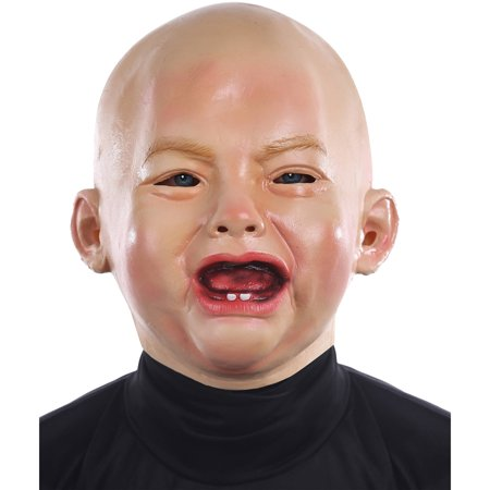 Crying Baby Mask Adult Halloween Accessory](Halloween Mask Obama)