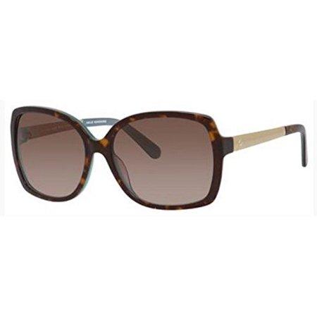Kate Spade Women's Darilynn Square Sunglasses, Havana Turquoise Gold/Brown Gradiennt, 58 mm