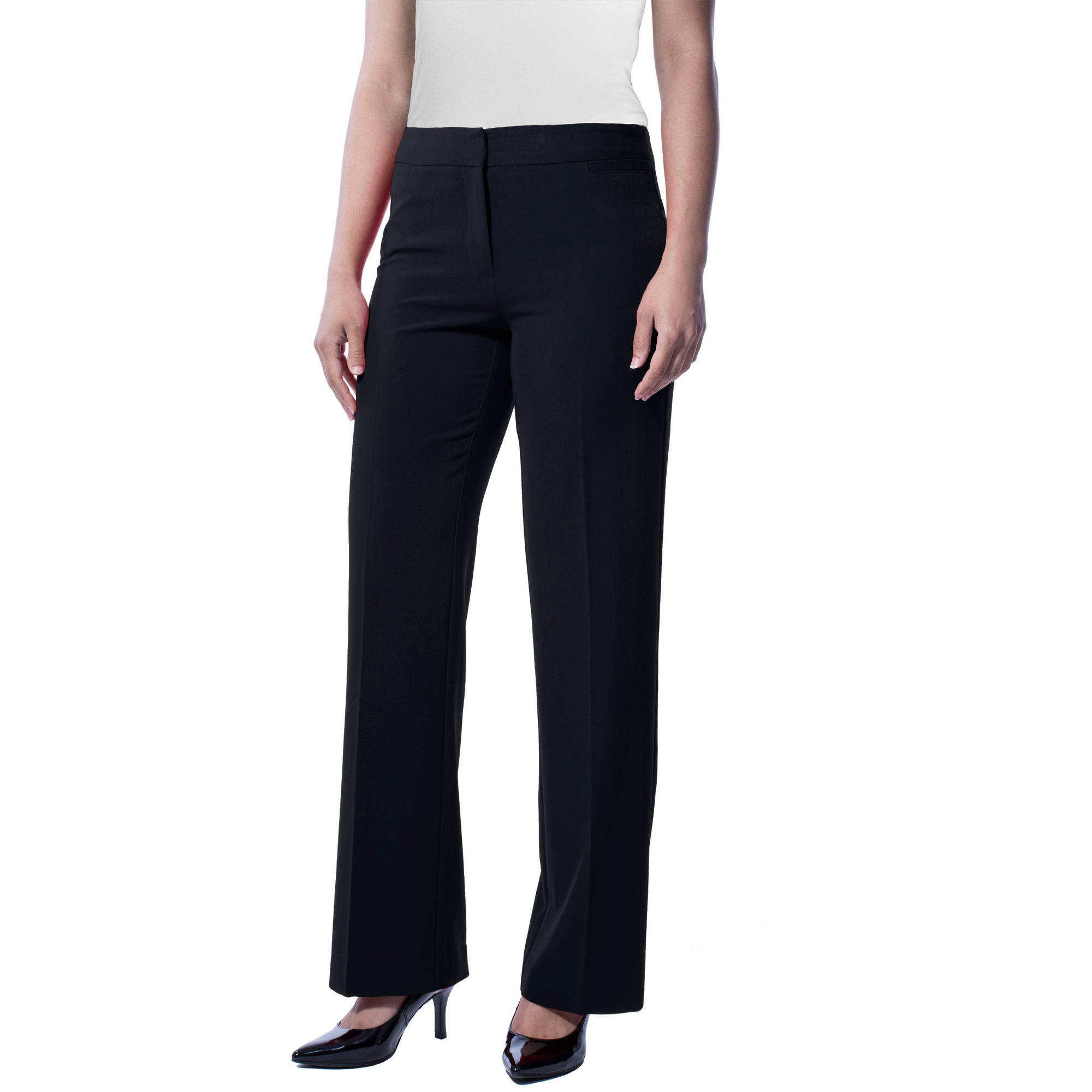 Excellent Prada Women Pants Business Trousers Chinos Black Green Size 38 40 26