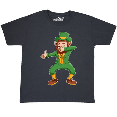 Inktastic St  Patricks Day Dabbing Leprechaun Youth T Shirt St  Patrick Green