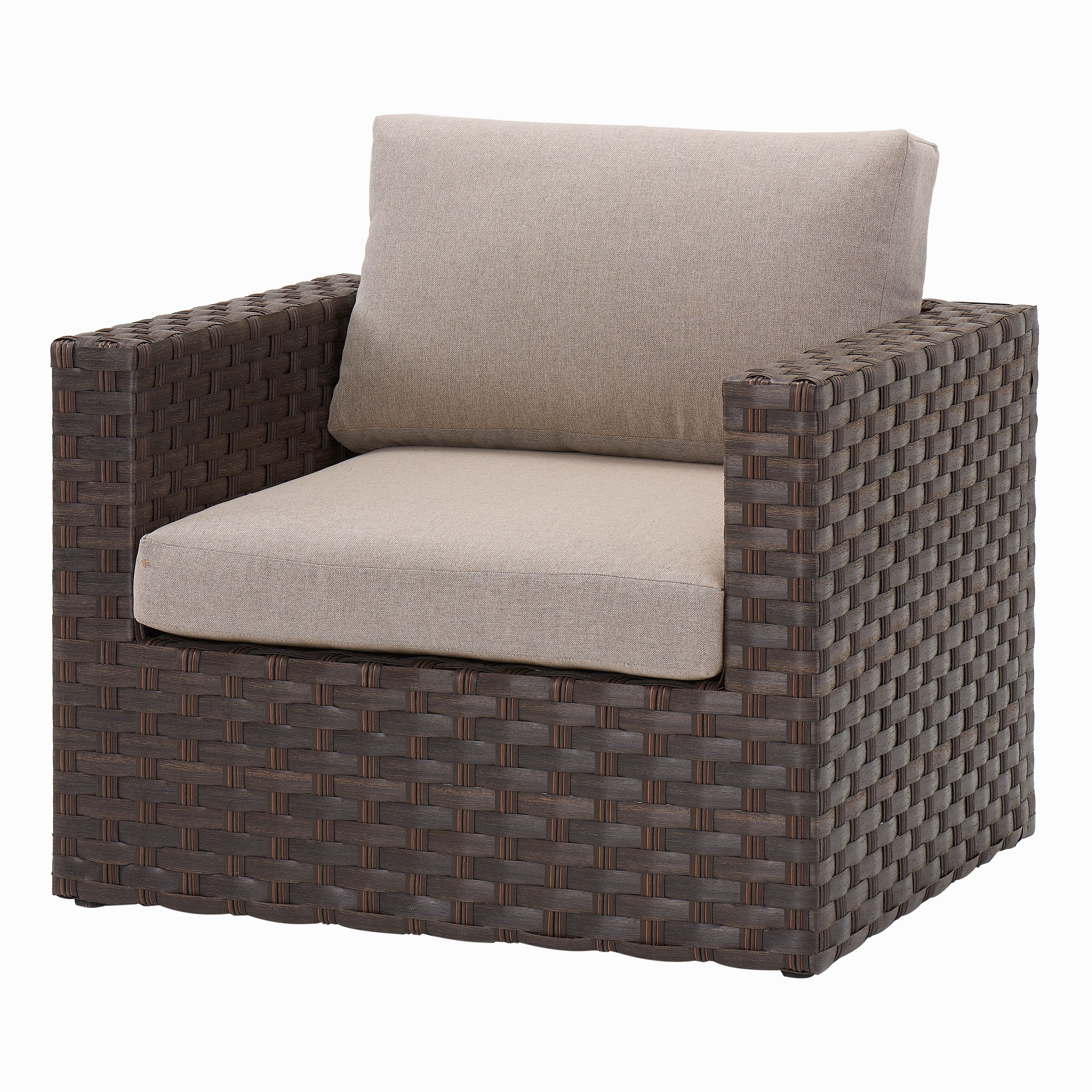 Better Homes & Gardens Harbor City 2-Piece Patio Lounge Chair Set with Beige Cushions