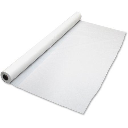 Tablemate White Plastic Tablecover Roll, 40in x 100ft,