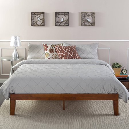Zinus Wen 12 Quot Solid Wood Platform Bed Cherry Finish