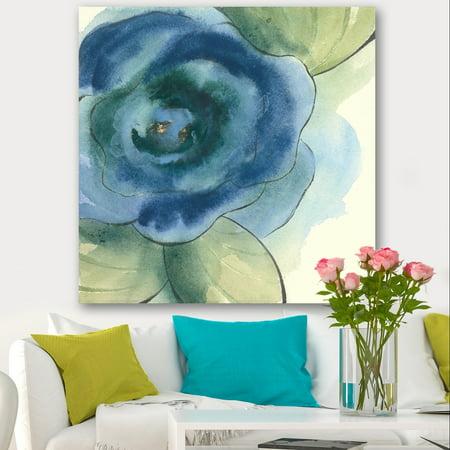 DESIGN ART Designart 'Blue Floral Poppies IV' Cottage Canvas Artwork - Blue ()