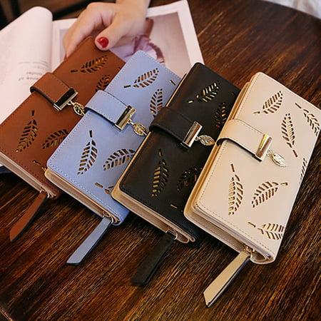 Fashion Women Bifold Wallet Leather Clutch Card Holder Purse Lady Long Handbag Lodis Audrey Clutch Wallet