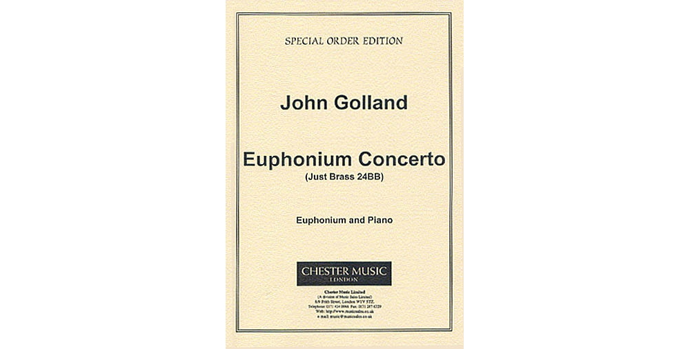 Chester Music Euphonium Concerto (Euphonium with Piano Reduction) Music Sales America... by