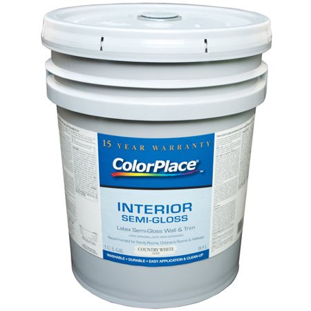Colorplace Interior Semi Gloss Latex Wall And Trim Paint Country White