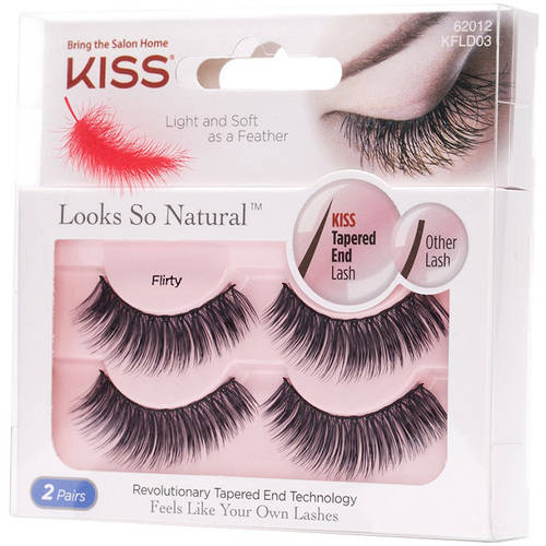 KISS Looks So Natural False Eyelashes, Flirty, 2 pairs