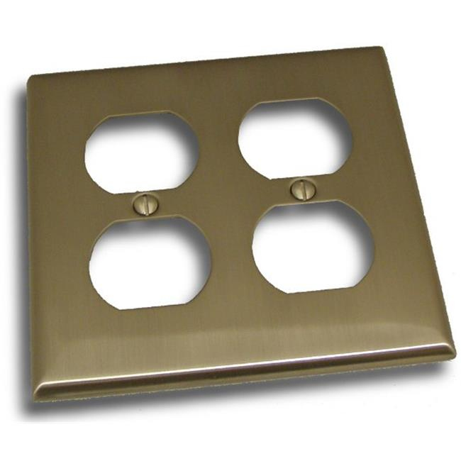 Residential Essentials 10823SN Double Receptacle Outlet Switch Plate, Satin Nickel - image 1 de 1
