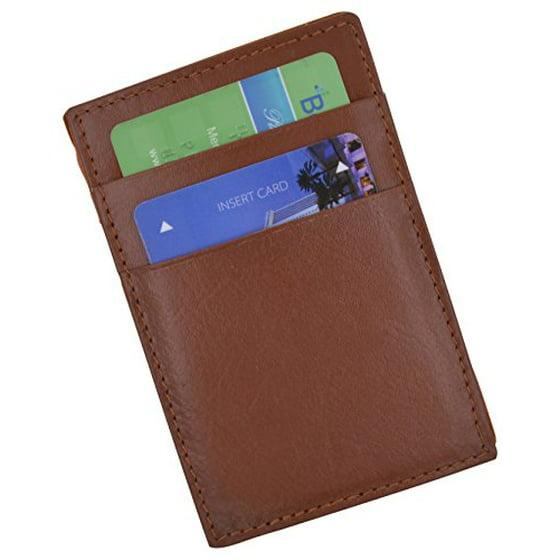 03a85263d38d Moga Men's Fashion Magic Money Clip Genuine Leather Minimalistic Slim  Wallet (Brown)