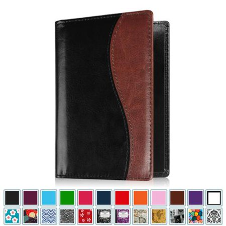 Fintie Passport Holder Travel Wallet RFID Blocking Case Cover - Securely Holds Passport, Boarding Passes, Twin