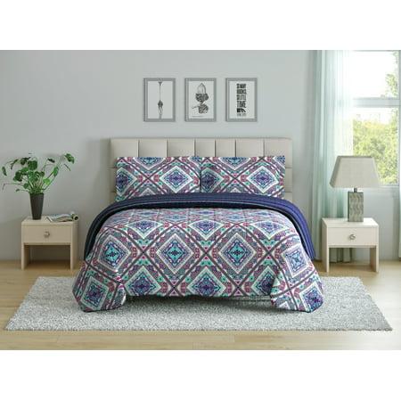 Oh Hello, (2) Piece Twin Comforter Set - Tribal Diamond Print