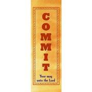 Banner-Commit Your Way (2' x 6') (Indoor)