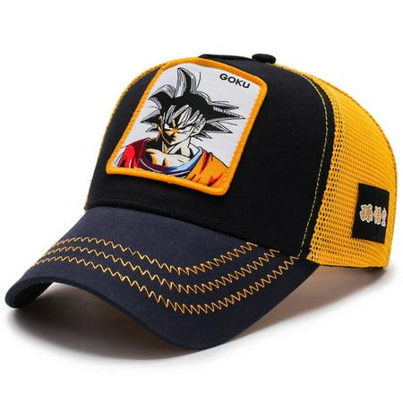 Men Women Cartoon Anime Dragon Ball Snapback Hip Hop Summer Breathable Mesh Trucker Hat Baseball Cap Man Ball Cap