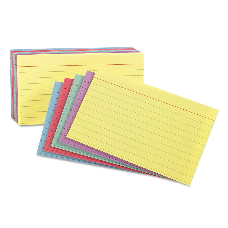 3 x 5 index cards