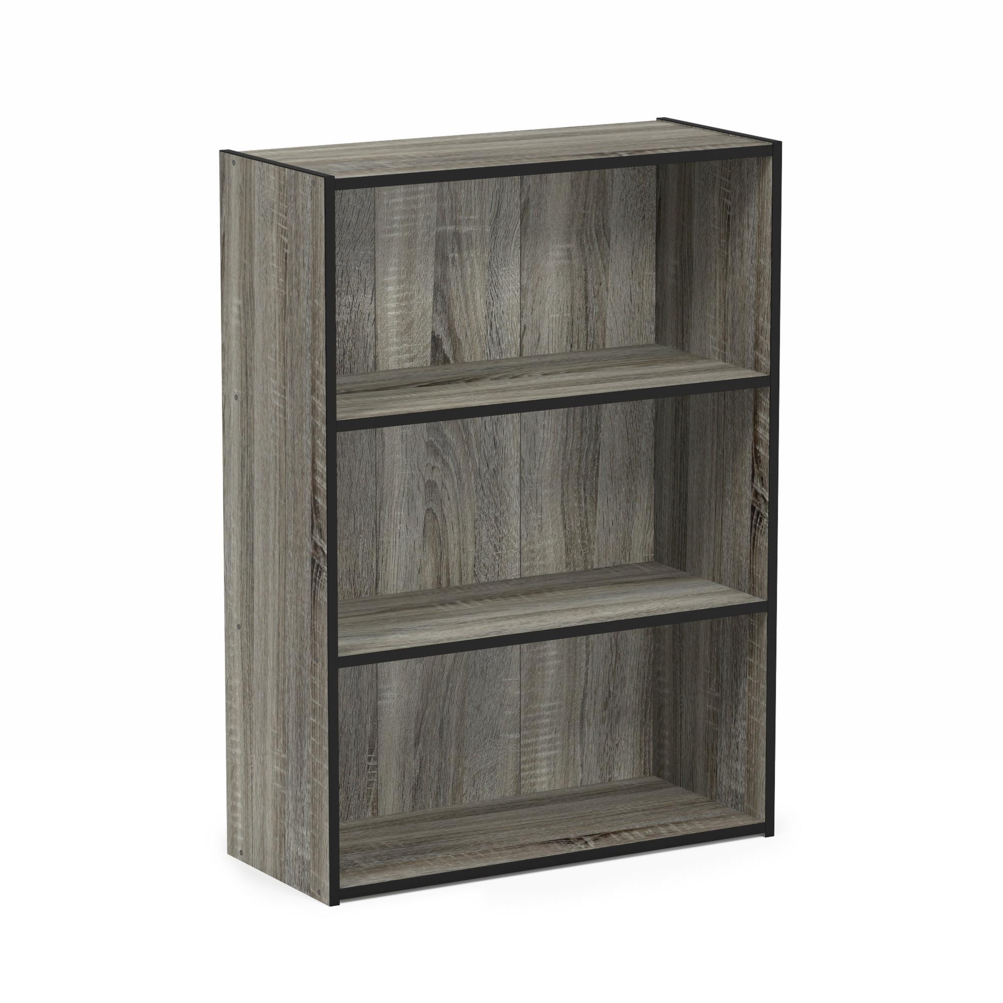 Furinno Pasir 3 Tier Open Shelf, Espresso, 11208EX
