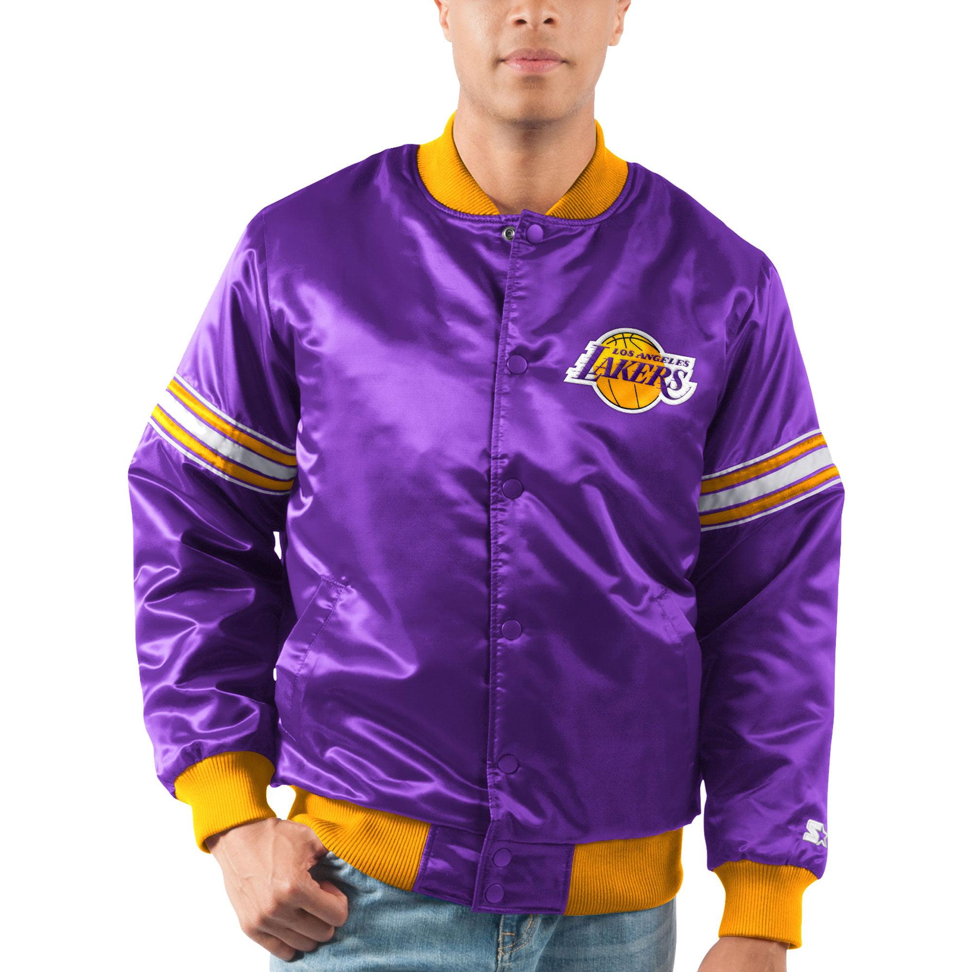 Los Angeles Lakers Starter The Draft Pick Varsity Satin Full-Snap Jacket - Purple