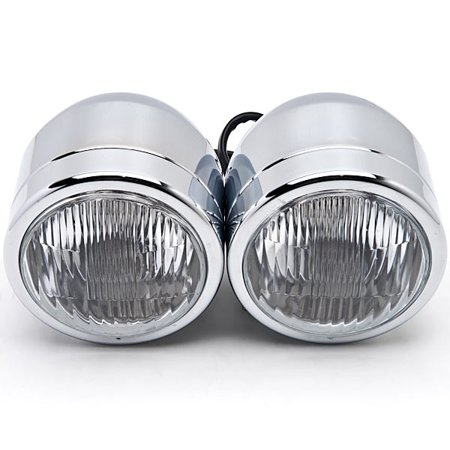 Kapsco Moto Chrome Twin Headlight Motorcycle Double Dual Lamp For Victory V92C V92SC V92TC Deluxe Classic - image 5 of 6