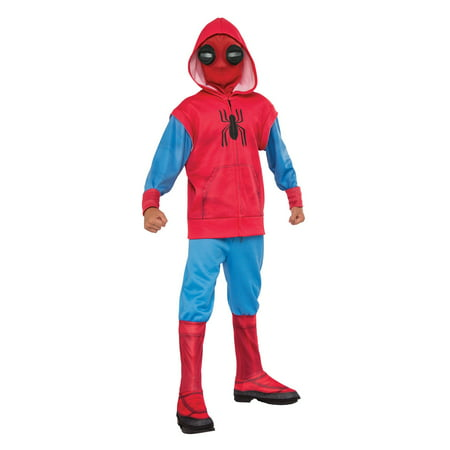Spider-Man Homecoming - Hoodie and Sweatpant Set Child Costume - Mens Pleather Pants Halloween Costume