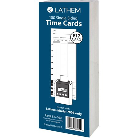 Lathem Model 700E Clock Single Sided Time Cards - Lathem 5000ep Time Clock