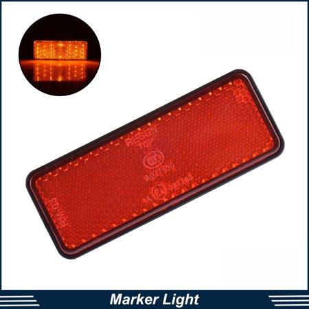 Stop Light Lamp (2x Red Motor ATV 24 MD LED Reflector Tail Brake Stop Marker Clearance Light Lamp)