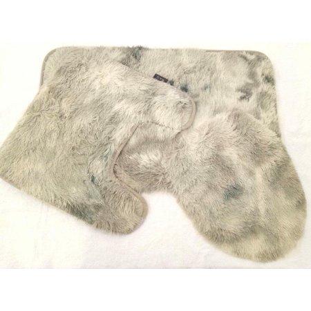 Ultra Soft Faux Fur 3 Piece Bathroom Set Rug Contour Mat