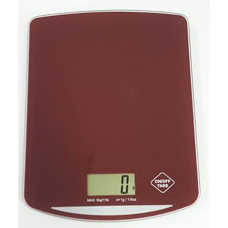 Digital Tempered Glass Kitchen Scale (Red) - image 1 de 2