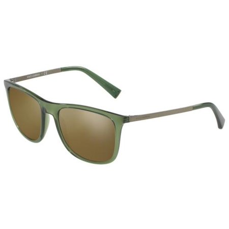 DOLCE & GABBANA Sunglasses DG6106 3068Y8 Transparent Green (Dolce Gabbana Discount Sunglasses)