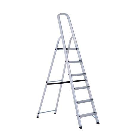 Homcom 6 Step Folding Aluminum Step Stool Ladder Walmart Com