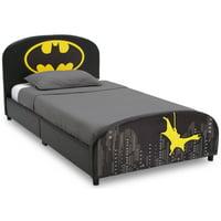 Delta Children DC Comics Batman Upholstered Twin Bed, Black