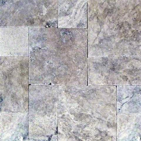 160 Sq Ft. Of  Silver Travertine Mini Pattern Pavers 150 sft /Pallet