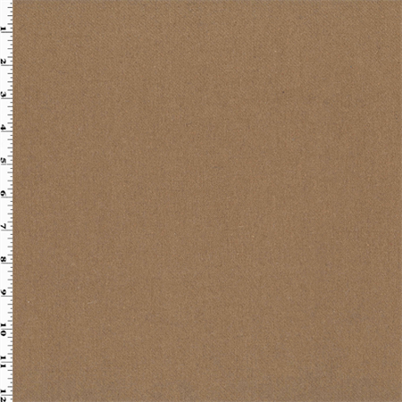 Almond Brown Wool Flannel Home Decorating Fabric, Fabric By the Yard