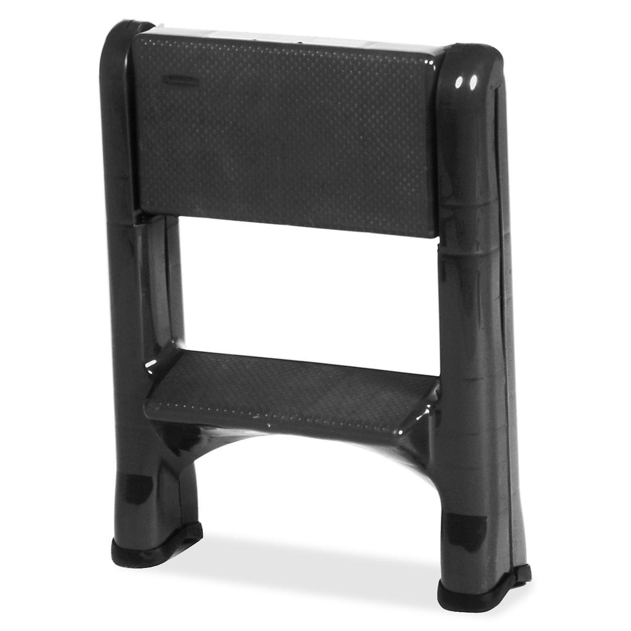 Rubbermaid 2 Tier Step Stool Plastic Lightweight